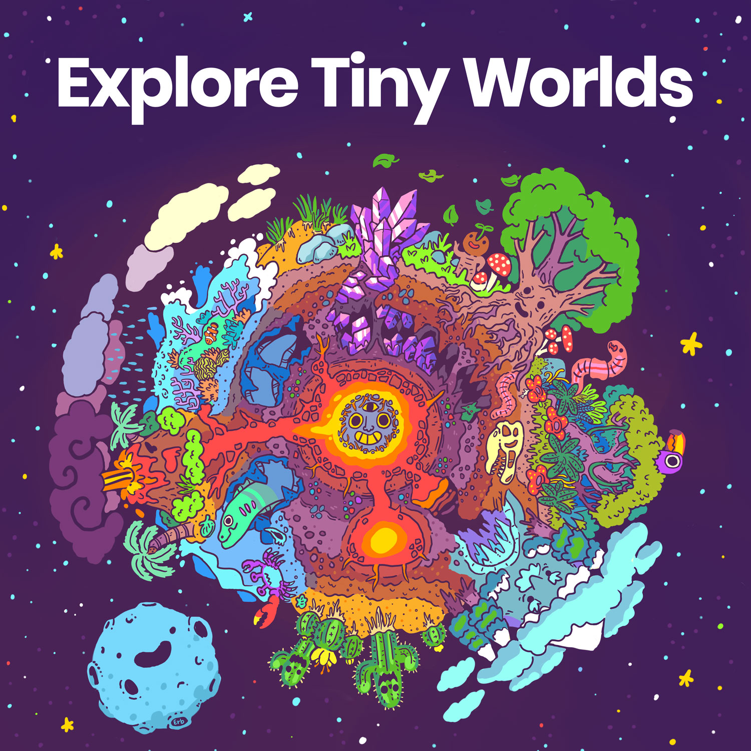 Explore Tiny Worlds album art by @Erb